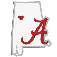 Alabama Crimson Tide Home State Vinyl Auto Decal NCAA Licensed Alabama Shape
