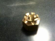 3/4-10 BRASS CASTLE NUT prop shaft