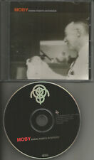MOBY Animal Rights RARE INTERVIEW 1996 Europe Made PROMO DJ CD 1996 USA seller