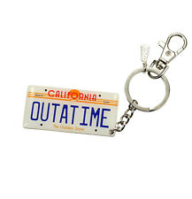 Back to The Future OUTATIME License Plate Number Plate Metal Keyring