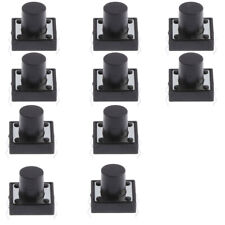 PCB Momentary Tactile Tact Push Button Switch DIP, 10Pcs 12x12x10mm Panel