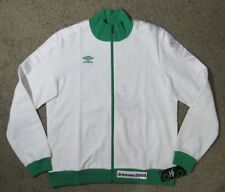 NWT Umbro Diamond Taped Track Jacket Sz Large 100% Authentic White Green Soccer
