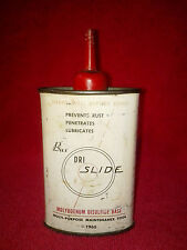 Vintage 1960 Bux Dri Slide Oil Tin Can Metal Container