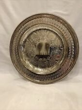 """Vintage International Silver Company Handcrafted Serving Tray Plate 10"""" USA"""