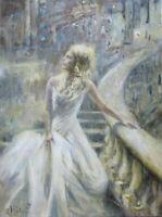 "GERRY MILLER-Acryl Gemälde Unikat ""White Wedding"" Original  30 x 40cm"