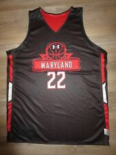 Maryland Terps #22 Basketball Team Practice Game Worn Under Armour Jersey XL