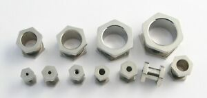 Hexagon Surgical Steel Flesh Tunnel Ear Plug Screw Body Jewellery Lobe 2mm-16mm