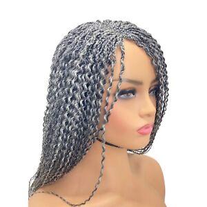 Braided Wig, Handmade Classic Cap Box Braids Curly