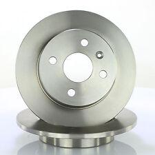 2x Bremsscheibe Ø240mm voll Bremsscheibensatz Hinten für Opel Astra G H Meriva