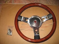 """New 13"""" Wood Steering Wheel and Adaptor for MG Midget 1978-1979 Made in the UK"""