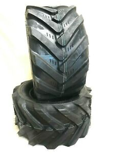 Two 23x10.50-12  Rubbermaster Tires Lug AG 23x10.5-12 VERY WIDE 23 1050 12
