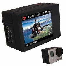 LCD BacPac External Display Viewer +Rear Screen Case for GoPro Hero 3 White 4 3+