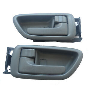 For Toyota Sequoia Tundra Inside Interior Left Right Side Gray Door Handle 01-07