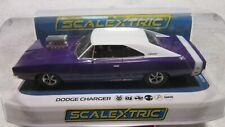 SCALEXTRIC CHEVEROLET  1/32  DODGE CHARGER PURPLE AND WHITE