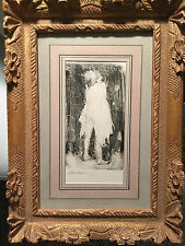 original drawing Nude Monotype signed stuart kaufman 1926-2008