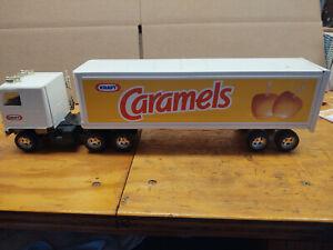 "LARGE Vintage Ertl Kraft Caramels TRACTOR TRAILER TRUCK - METAL - NICE 18 1/2"""