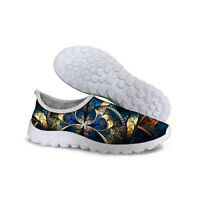 Women Breathable Shock Absorbing Sports Fashion Running Walking Tennis Shoes New
