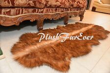 """24""""x59"""" GRIZZLY BEARSKIN Runner Rug Super Plush Area Rug Couch Sofa Decor Suede"""