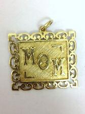 9 ct carat 375 Gold Vintage style MOM Charm