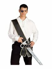 Pirate Sword Sash Caribbean Black Gold Dress Up Halloween Costume Accessory
