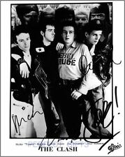 THE CLASH SIGNED PHOTO RE-PRINT JOE STRUMMER #304