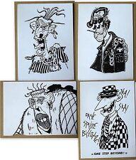 LOt 4 cartes,Ska Punk , One step Beyond,dessin