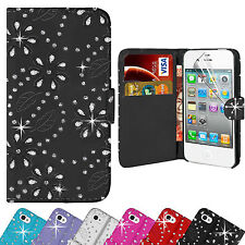 Real Genuine Leather Flip Wallet Slim Case Cover for Apple iPhone 6 6s Black Iph6whfcblk