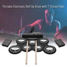 USB Roll Up Silicon Digital Electronic Drum Kit 7 Pads for Beginners Kids N3Q4