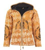 Damen Strickjacke aus Baumwolle mit Kapuze Hippie Jacke Goa von Kunst und Magie