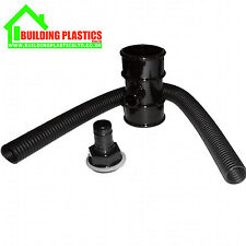 WATER BUTT DIVERTER FOR 50MM ROUND DOWNPIPE BLACK - FLOPLAST MINIFLO RANGE