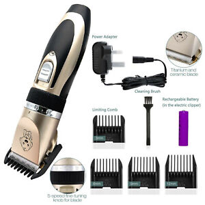 Electric Pet Grooming Clippers Cat Cutter Machine Shaver Pet Dog Hair Trimmer UK