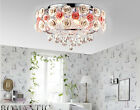 Modern Style White E14 Diameter 50CM Stainless Steel+K9 Crystal Ceiling Light