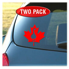 Canada Goose and Canadian Maple Leaf - 2 Pack of Vinyl Decals