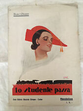 SPARTITO MUSICALE LO STUDENTE PASSA IBANEZ CHIAPPO 1929 MANDOLINO POP