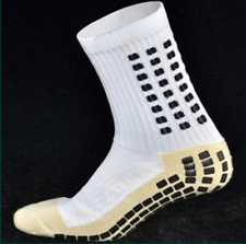 White Football Grip Non Slip Socks Like Trusox