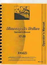 Minneapolis Moline 17-30 Twin City Tractor Owners Operators Manual
