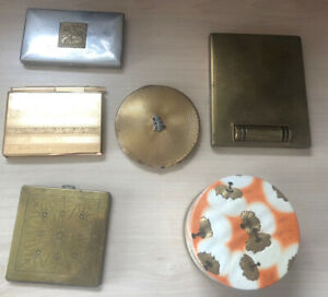 VINTAGE/ANTIQUE COLLECTION OF MAKE UP COMPACTS & NOTEBOOK