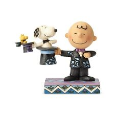 JIM SHORE PEANUTS Snoopy Figurine CHARLIE BROWN MAGIC SHOW Woodstock Magician