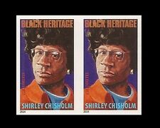 US 4856a Black Heritage Shirley Chisholm imperf NDC horz pair MNH 2014