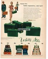1950 White Star Luggage Vtg Print Ad