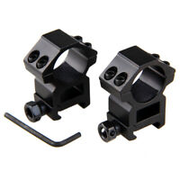 2pcs 20mm Dovetail Rail Mounts Tactical Rifle Scope Ring 25.4mm Hunting Mount