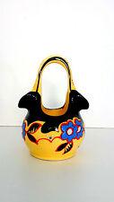 VASE DITMAR URBACH Czechoslovakian ART DECO Hand Painted Pottery 1930s