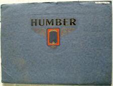 Humber 16/50 Snipe, pullman modelli ORIGINALE AUTO SALES BROCHURE 1931 469.10.30 JS