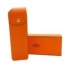 Authentic HERMES Multi Case Porch Orange Leather C in Square #S308022