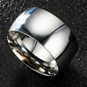 Big Wide Stainless Steel Mens Ring Band Ring Man Jewelry HipHop Punk Size 10