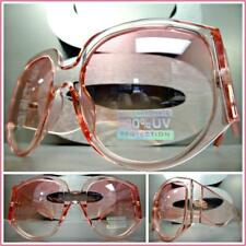 OVERSIZED EXAGGERATED RETRO Style SUN GLASSES Super Thick XL Pink Frame & Lens