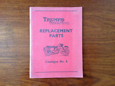 Rare - Triumph Tiger Cub - Original replacement parts - Catalogue No 6 - 1959