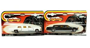 (2) Majorette Stretch Limousines In Package 1 White, 1 Black W Opening Doors 339