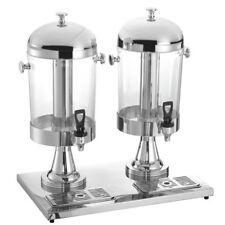 HUBERT Cold Beverage Dispenser For 2 Beverages 4.2 Gallon Polycarbonate