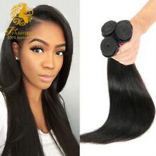 7A Indian Hair Straight 100% virgin Human Hair 3Bundle Natural Color Extensions